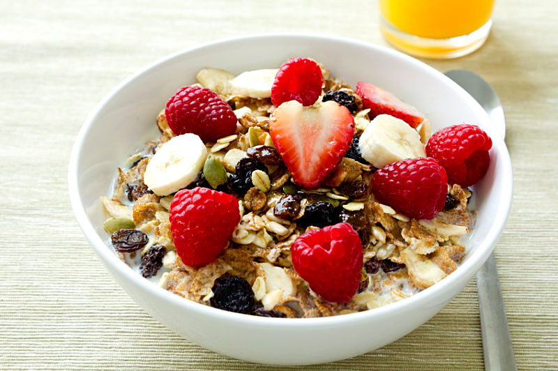 Should breakfast include eggs and protein rather than just cereals and fruit?