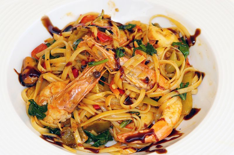 Seafood dishes are generally a good healthy option