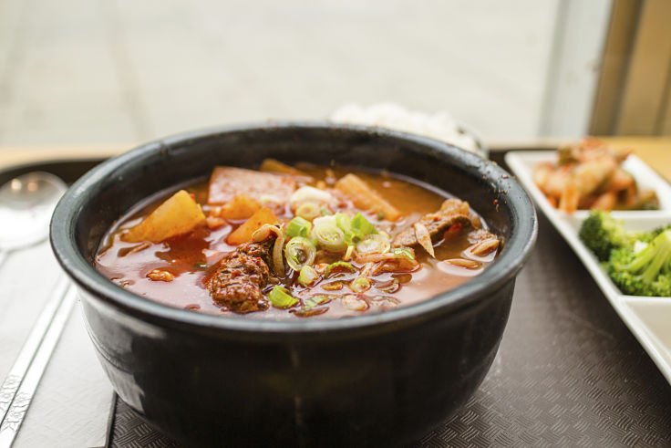 Many Korean Soups and Noodle dishes have low calories provide you limit the noodle and meat content, replacing with fresh vegetables