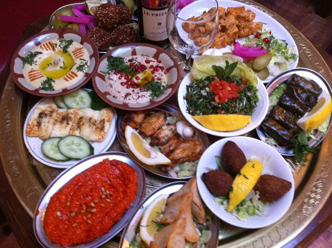 Lebanese mezza is generally a good healthy choice provided you choose the low calorie dishes