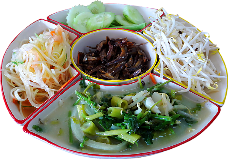 Many Thai dishes feature a range of healthy fresh vegetables - a great choice