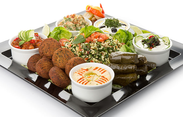 Mezze Platters are delicious and healthy in moderation provide you choose healthy side dishes and sauces