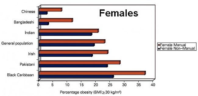 Percentage of Obese Females