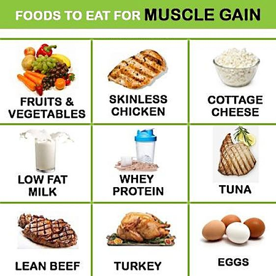 Foods ideal for muscle gain