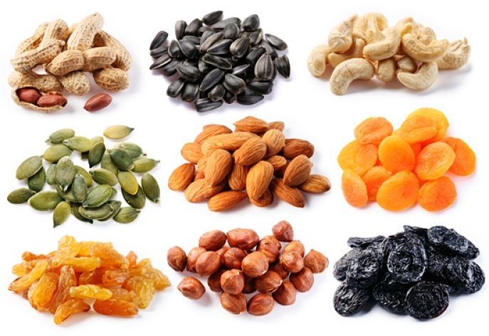 Do not forget the dried fruits and nuts which have high calories, good nutrients and good protein levels