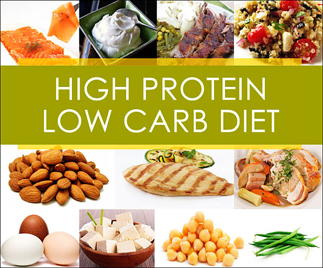 The high protein low carbohydrate diet