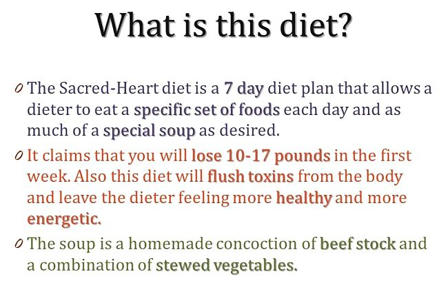 What is the Sacred Heart Soup Diet