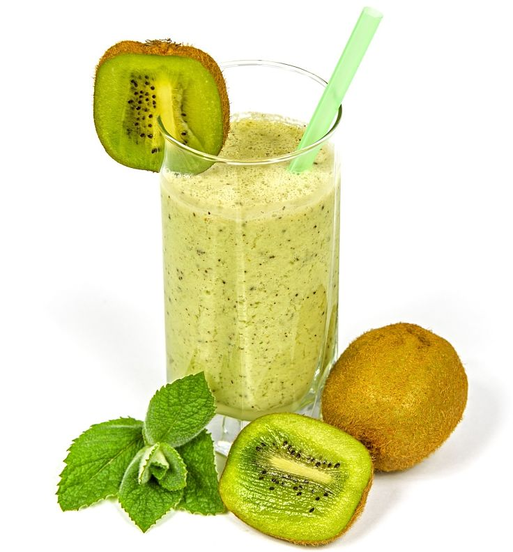Kiwi Fruit smoothie is so delicious and very good for you with low calories and high fiber