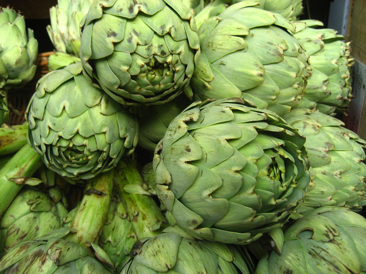 Artichokes are a good food for weight loss because they have only 47 Calories, 3g of protein and 5g of fiber per 100g.